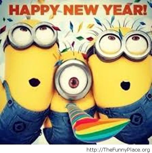 Happy New Year 2015 Minions image