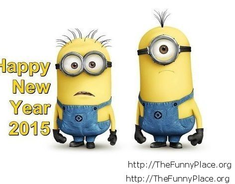 Happy New Year 2015 funny Minions image