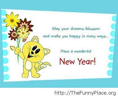 Happy New Year funny kitty image