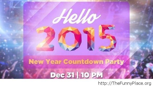 Hello 2015 Countdown party image