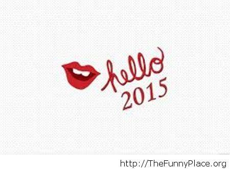 Hello 2015 kiss wallpaper