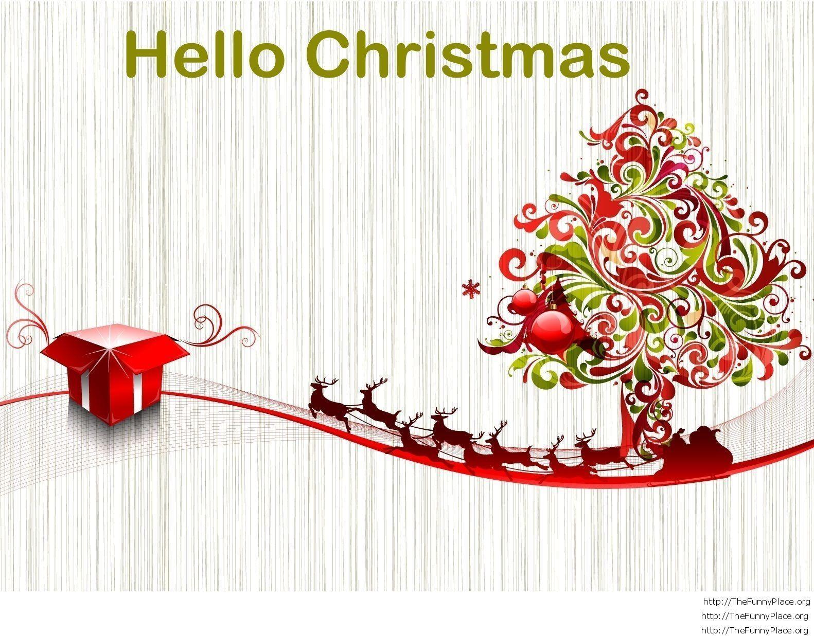 Hello Christmas winter image