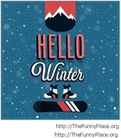 Hello winter funny image 2014