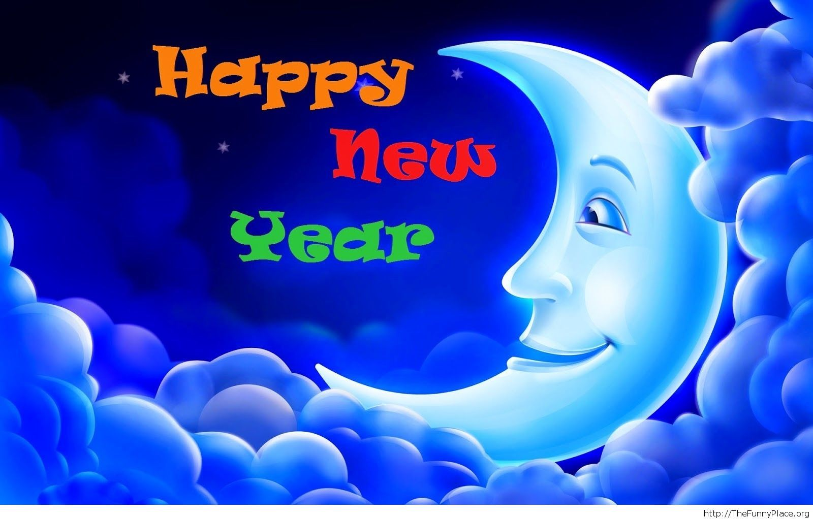 New Year moments night image