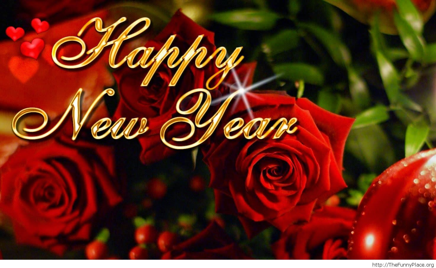 New Year roses 2015 wallpaper