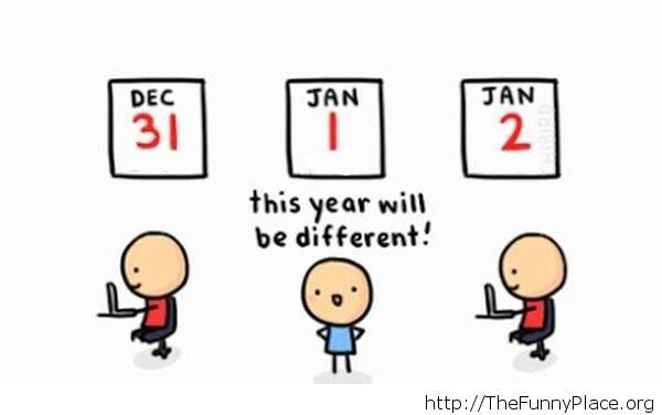 New Year's resolution cute comic