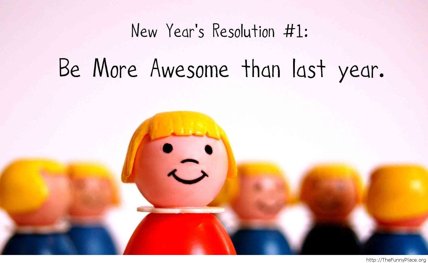 New Year's resolution for me