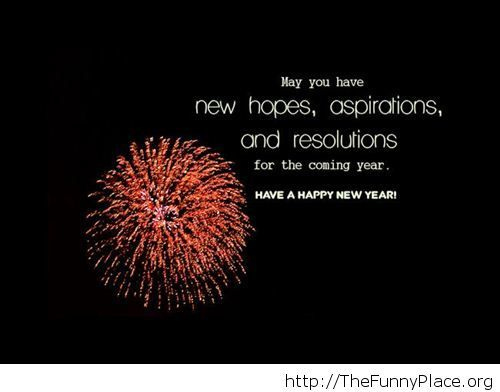New hopes saying New Year wallpaper