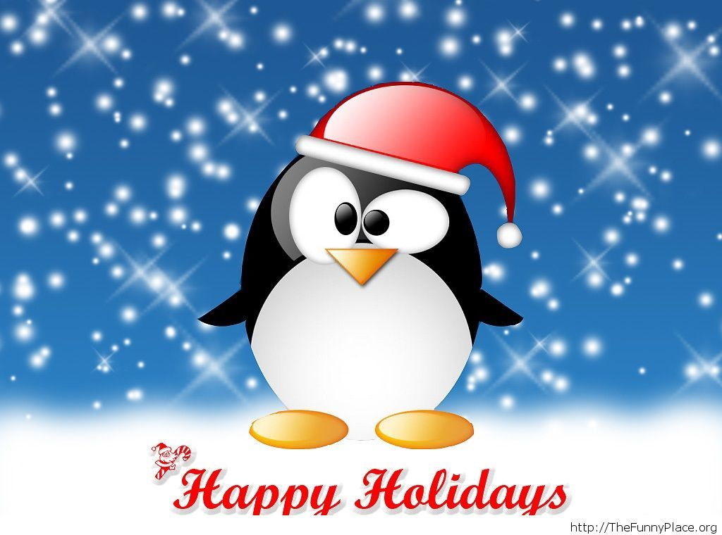 Penguin wallpaper Happy Holidays