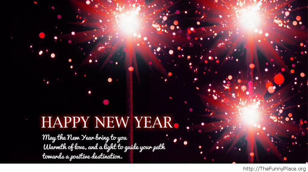 Positive wishes greetings card New Year