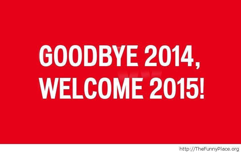 Red wallpaper goodbye 2014