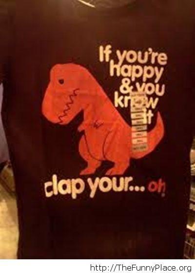 Sad T-Rex t-shirt