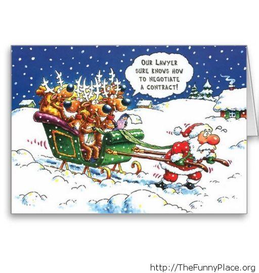 Santa funny sledge image