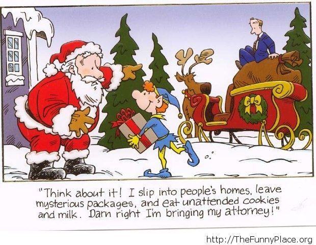 Santa' s attorney funny image