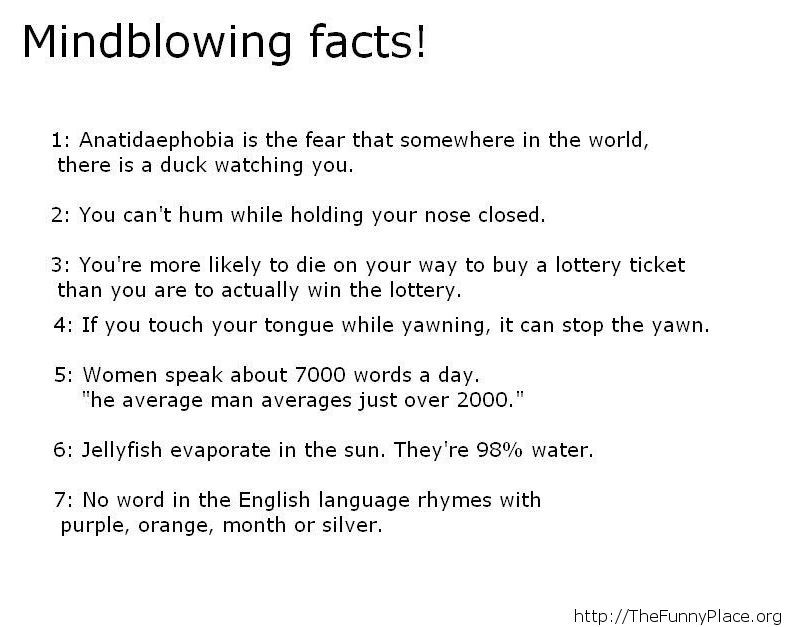 Some mindblowing facts