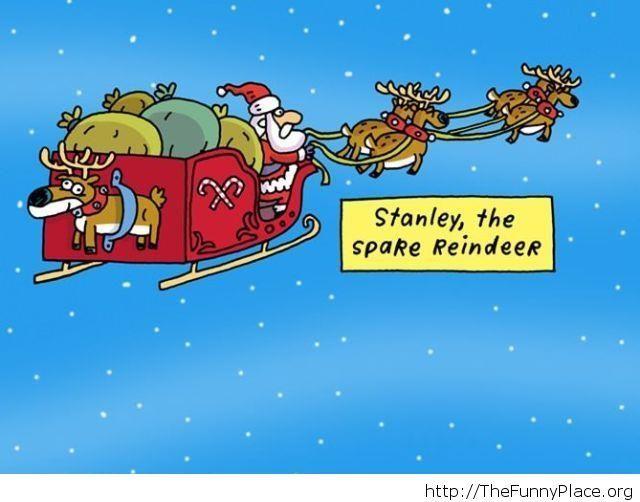 Spare reindeer funny joke