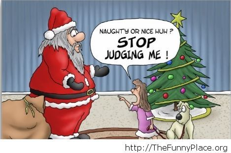Stop judging Christmas image