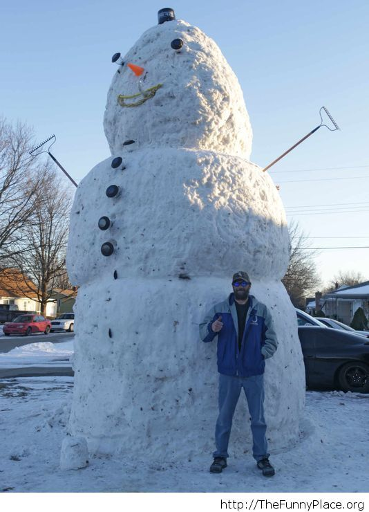 That is a big snowman