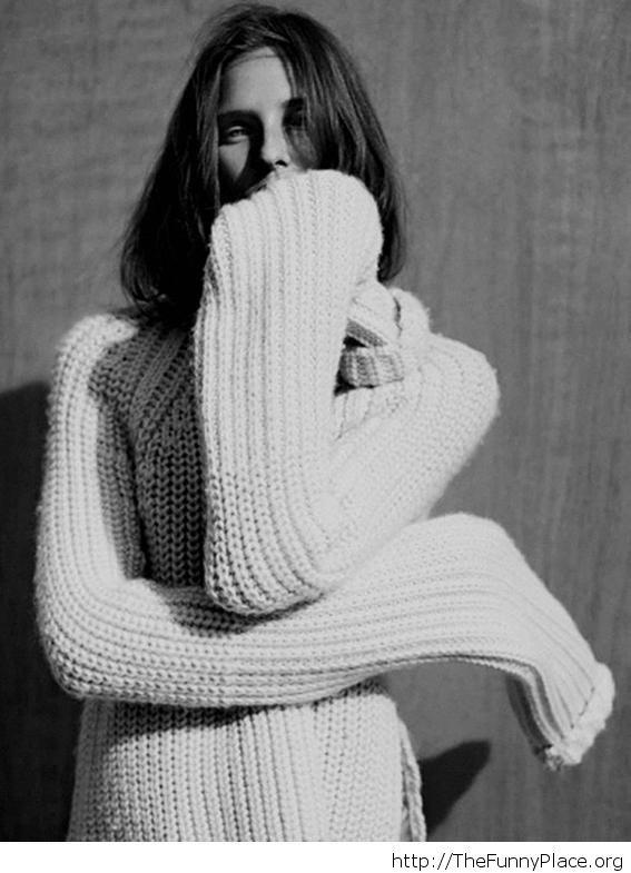 Warm winter sweater image