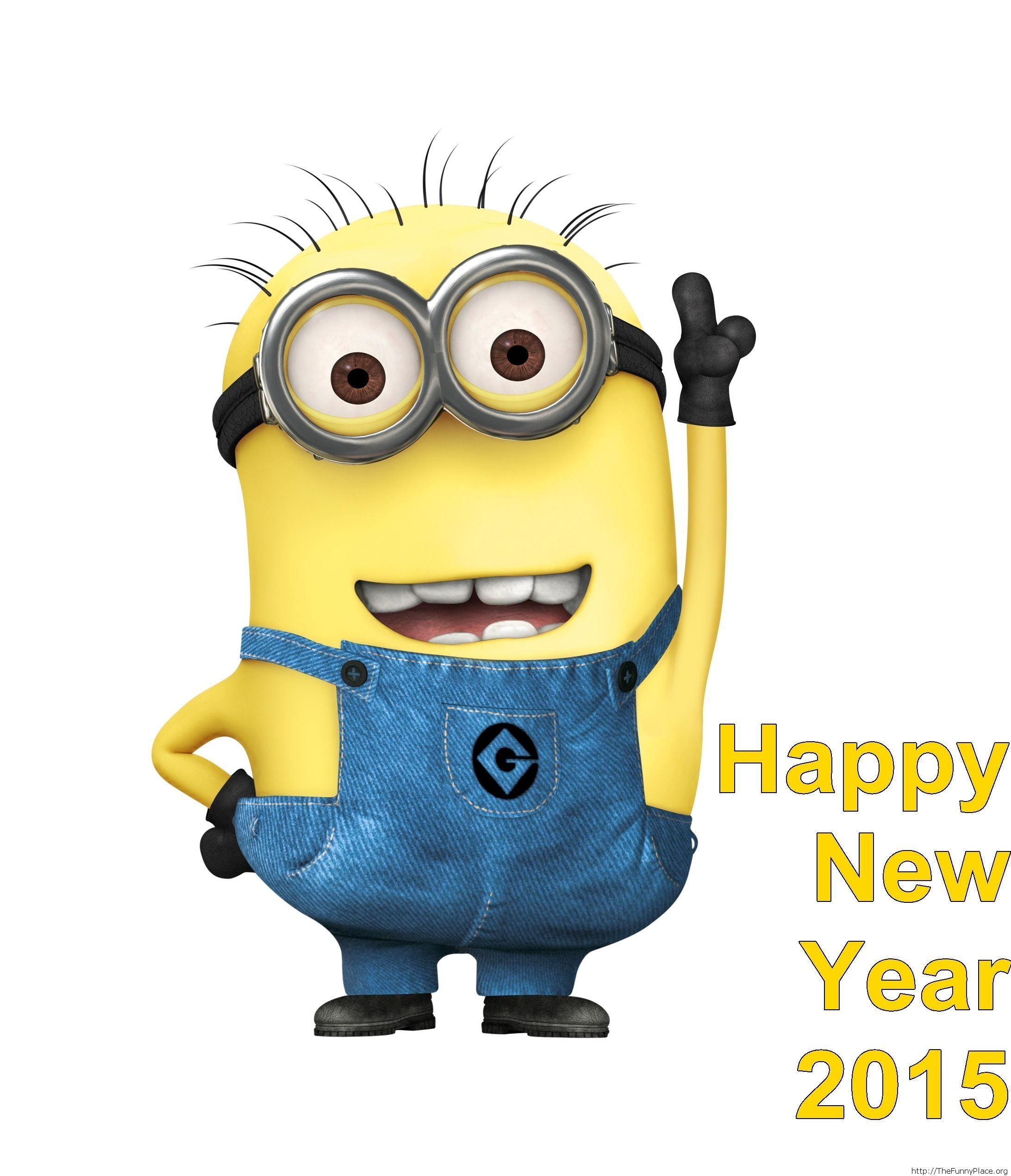 Me Gusta Funnies Happy New Year 2014: Welcome 2015 Funny Minion Wallpaper