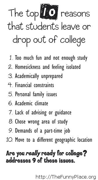 Why students drop out of college