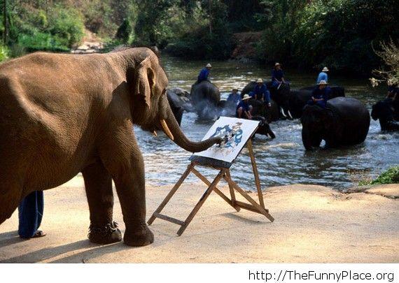 A true artist in action