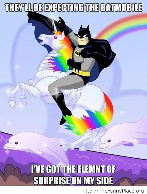 Batman and the element of surprise