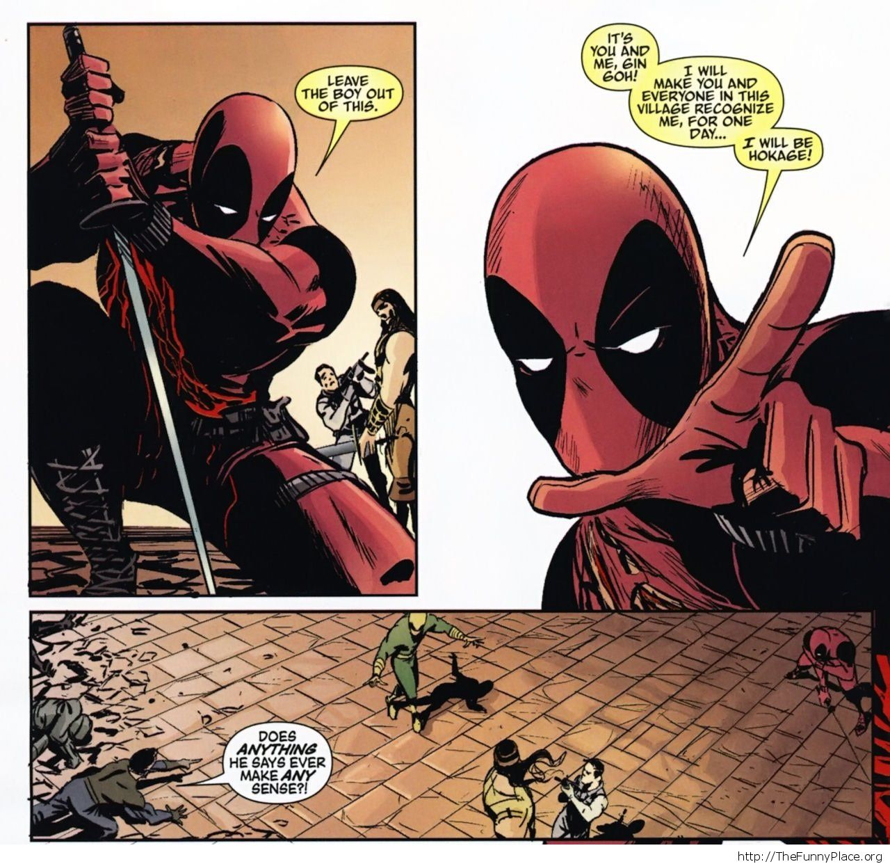Deadpool - Too much Naruto