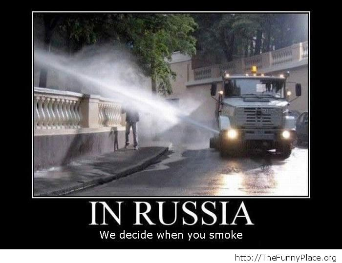 Don't smoke in Russia