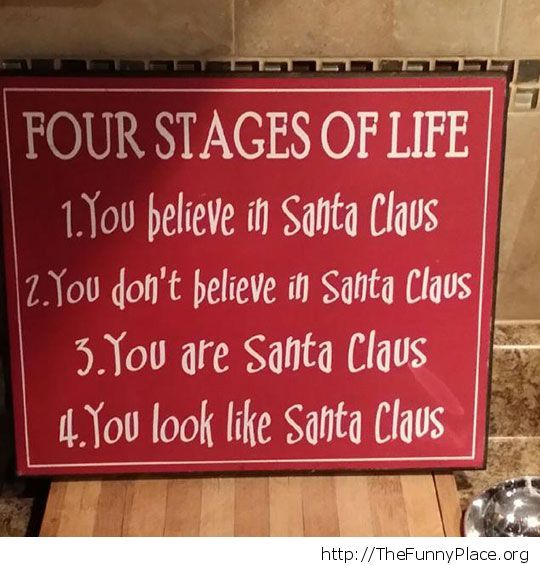Four stages in life. The truth...