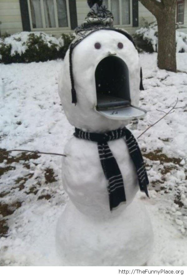 Funny Snowman Mailbox