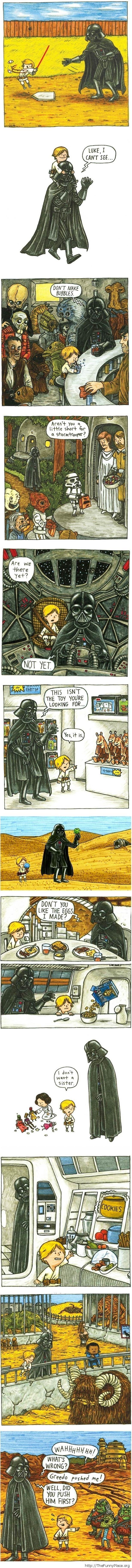 Funny Star Wars - Vader and Luke