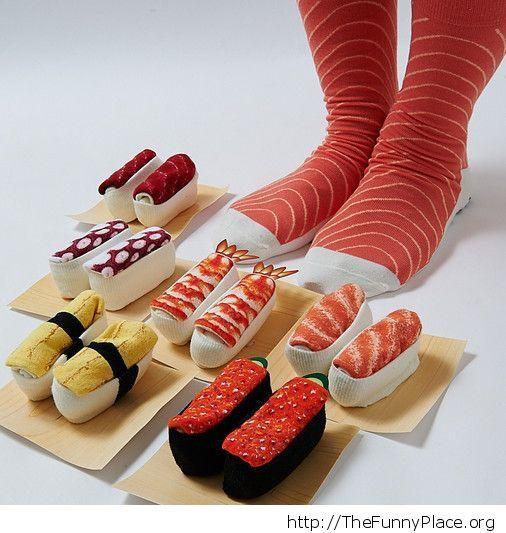 Funny Sushi Socks