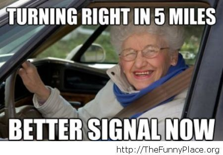 Funny driving logic for grandma