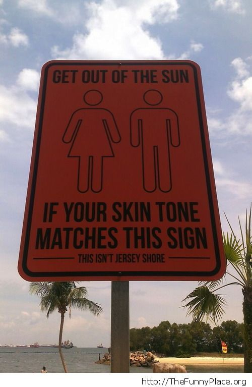 Get out of the sun