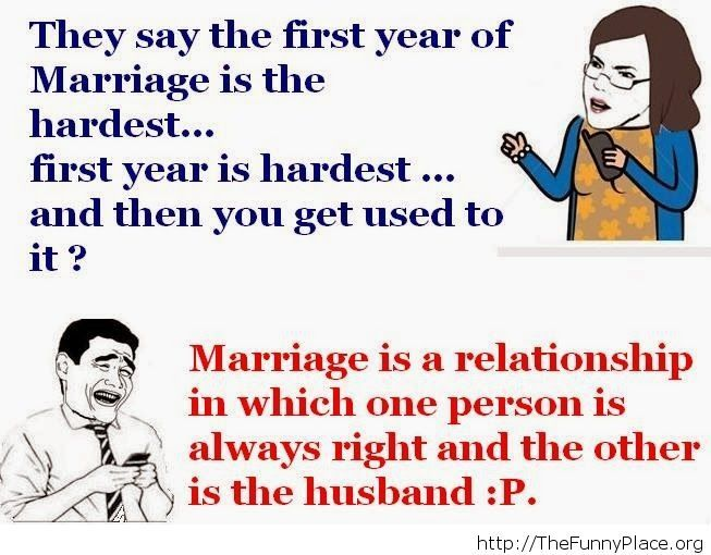 How marriages work after the first year