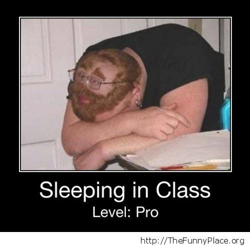 How to sleep in class