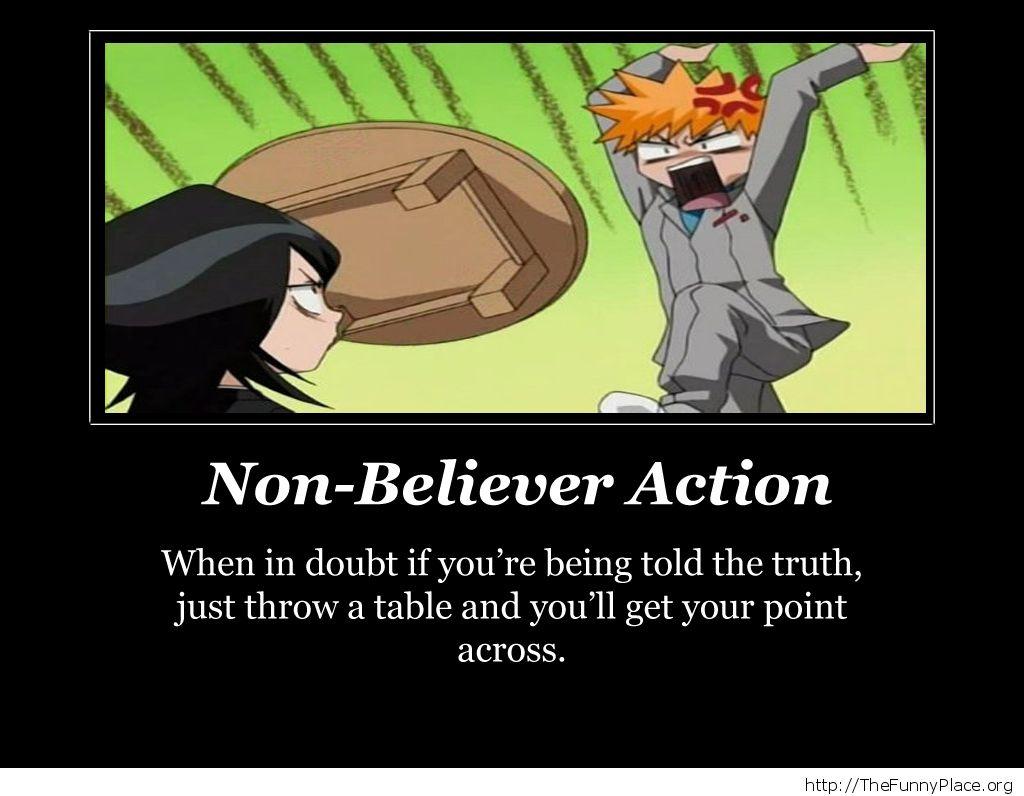 Ichigo - Non-believer action