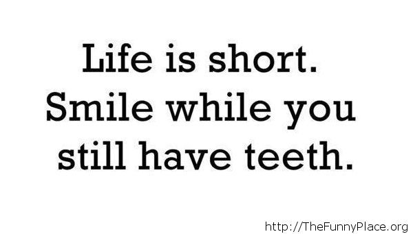 Life is short quote message