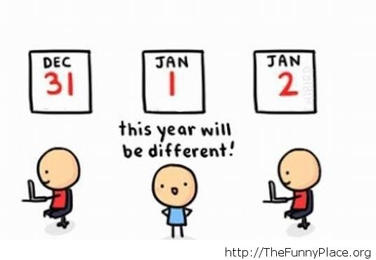 Of course this year will be different...