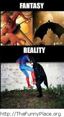 Spiderman and Batman - Fantasy vs reality