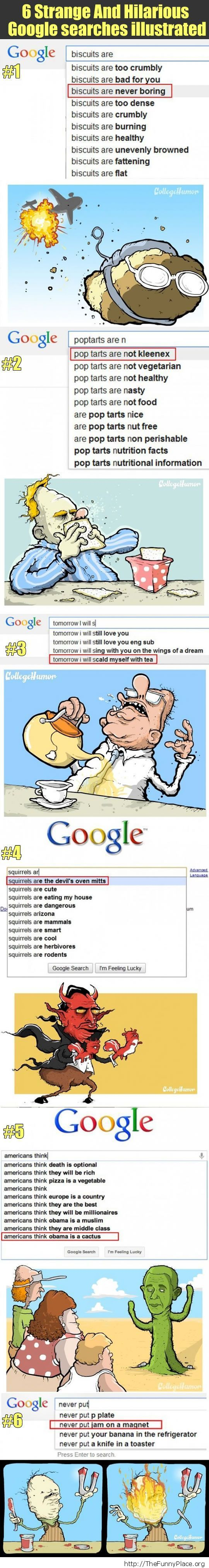 Strange and hilarious Google searches
