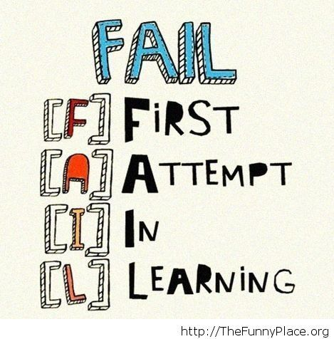 The definition of the word 'Fail'