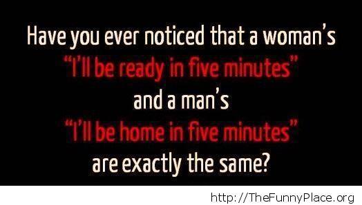 The five minutes lie
