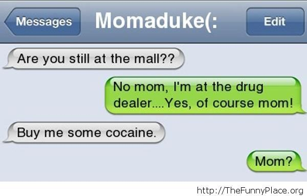Troll mom funny message