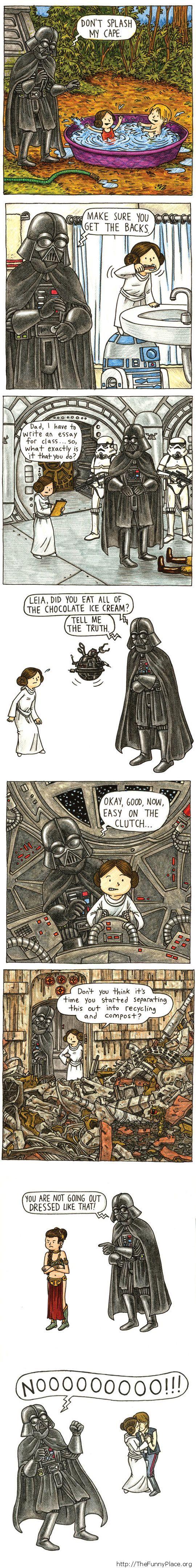 Vader as dad