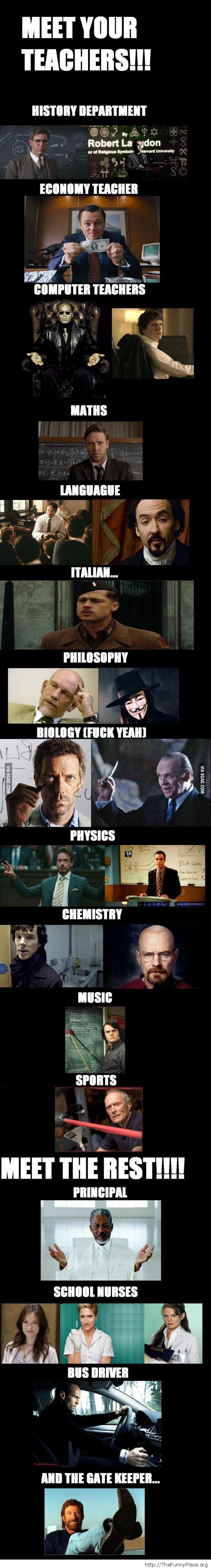 Awesome actors as teachers