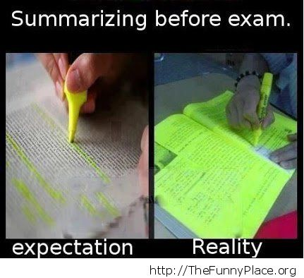 Before an exam