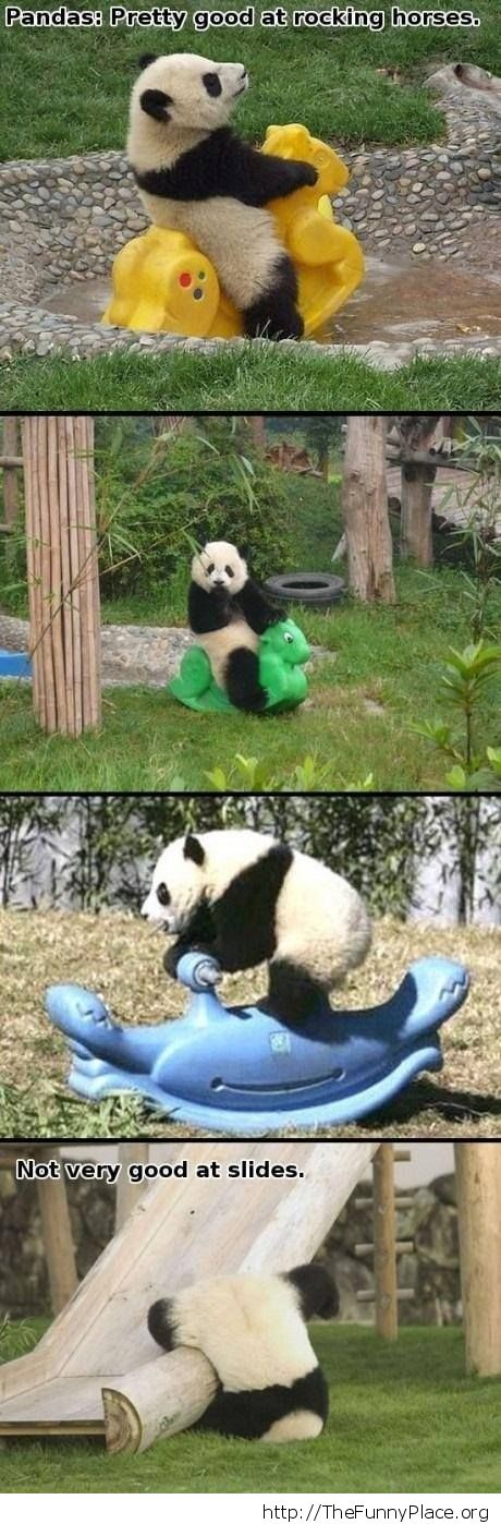 Funny Panda playing