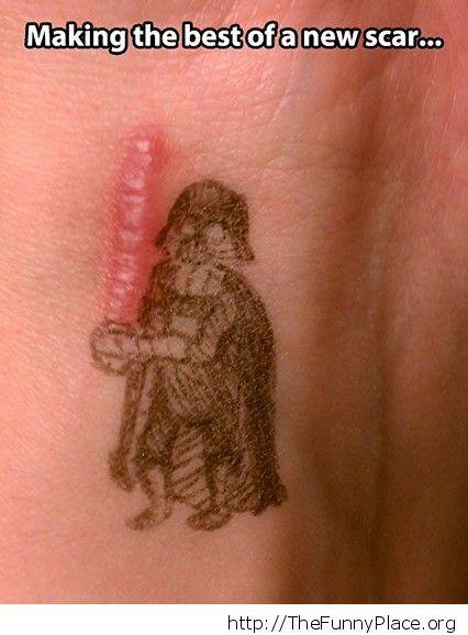 Funny Vader Scar Saber